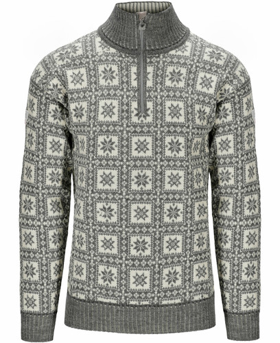 Dale of Norway Alvoy Men's Sweater, Smoke/Off White, 94971E