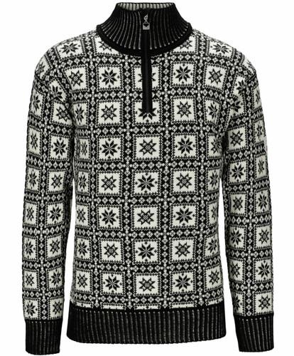 Dale of Norway Alvoy Men's Sweater, Black/Off White/Grey, 94971F