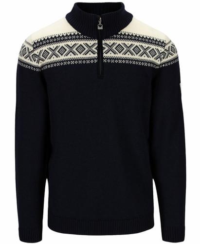 Dale of Norway Cortina Heron Men's Sweater, Navy/Off White, 94951C