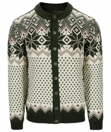 Dale of Norway Vegard Men's Jacket, Dark Green/Off White/Mountain Stone, 83891N