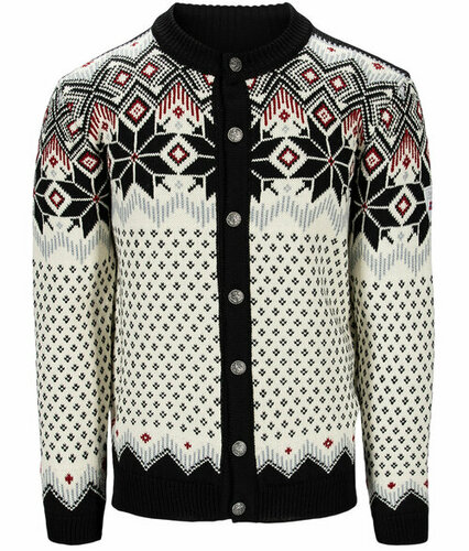 Dale of Norway Vegard Men's Jacket, Black/Off White/Red Rose, 83891F