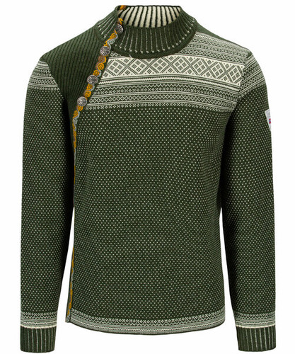 Dale of Norway Dalsete Unisex Sweater - Dark Green/Off White, 94391-N