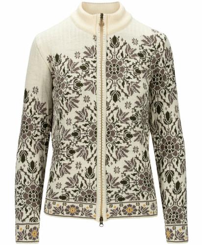 Dale of Norway Kvinesdal Women's Jacket, Off White/Army Green/Mountain Stone, 83801P