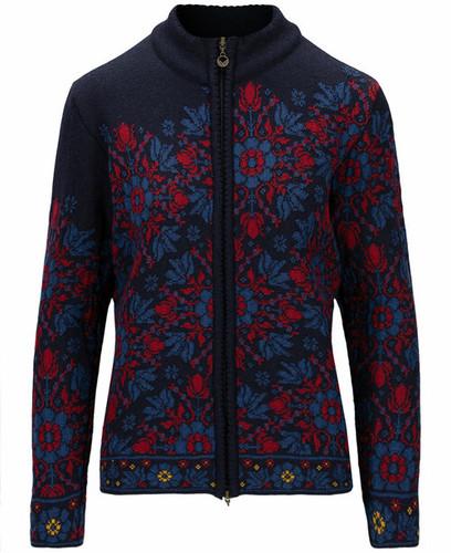 Dale of Norway Kvinesdal Women's Jacket, Navy/Indigo/Red Rose, 83801C