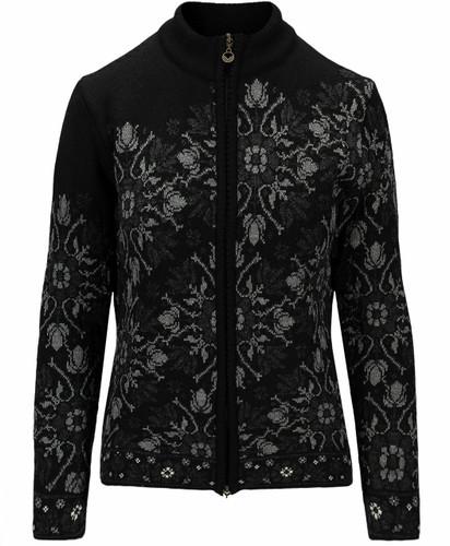 Dale of Norway Kvinesdal Women's Jacket, Black/Smoke/Dark Charcoal, 83801F