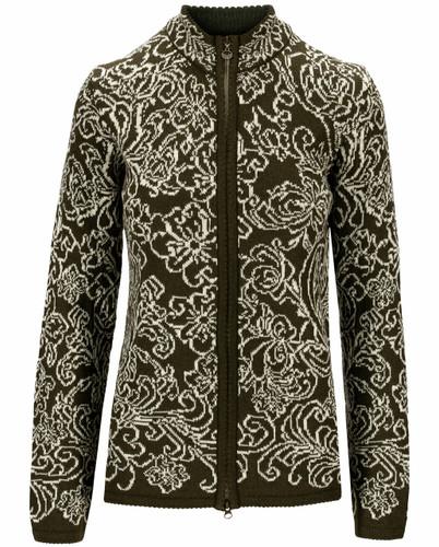 Dale of Norway Kvitseid Women's Jacket, Dark Green/Off White, 83781N