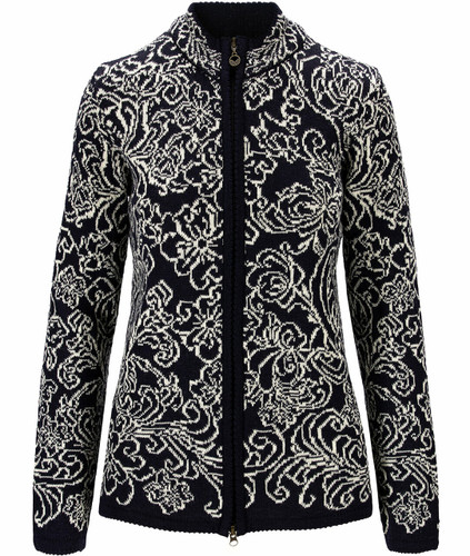 Dale of Norway Kvitseid Women's Jacket, Navy/Off White, 83781C
