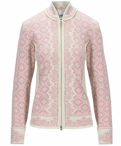Dale of Norway Christiania Cardigan, Ladies - Off White/Dawn Pink, 81951-I