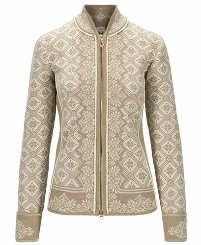 Dale of Norway Christiania Cardigan, Ladies - Beige/Gold/Off White, 81951-R