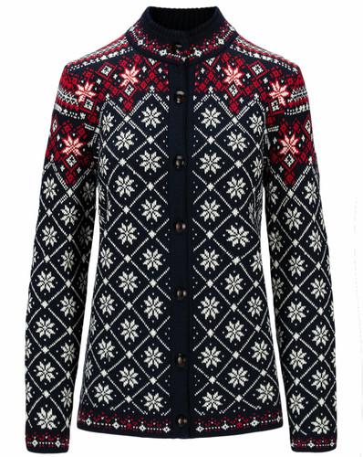 Dale of Norway Brimse Women's Jacket, Navy/Off White/Raspberry, 83761C