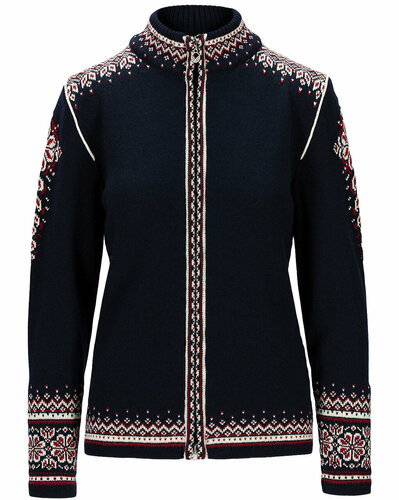 Dale of Norway 140th Anniversary Cardigan, Ladies - Navy/Red Rose/Off White, 83481H