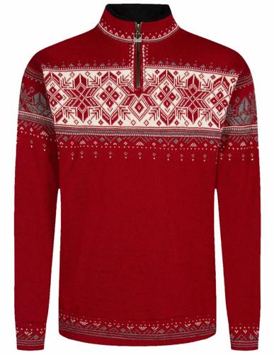 Dale of Norway Blyfjell Unisex Sweater,  Blyfjell Unisex Sweater, Red Rose/Off White/Smoke, 95021B