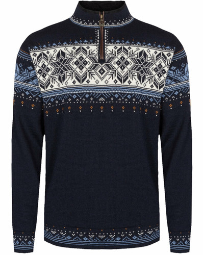 Dale of Norway Blyfjell Unisex Sweater, Navy/Blue Shadow/Off White, 95021C