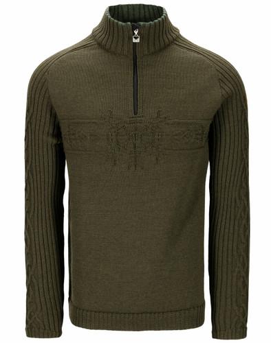 Dale of Norway Vegvisir Men's Sweater, Army Green, 94691N