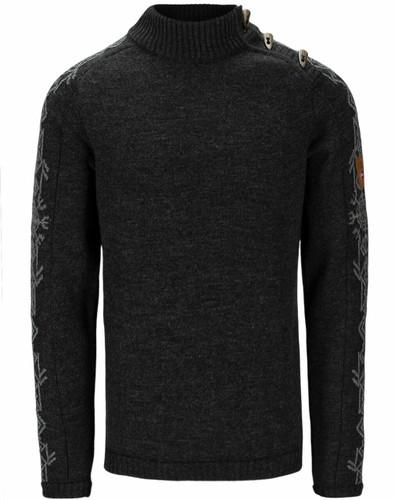 Dale of Norway Sigurd Men's Sweater, Dark Charcoal/Smoke, 94671E