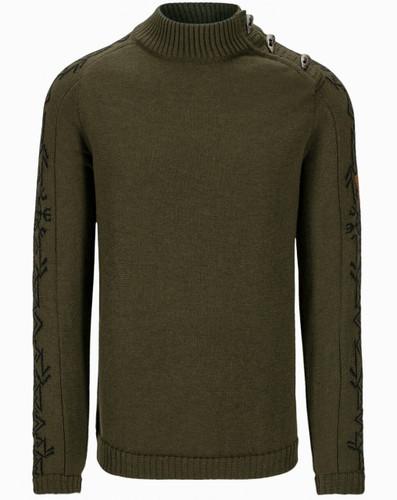 Dale of Norway Sigurd Men's Sweater, Army Green/Black, 94671N