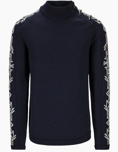 Dale of Norway Sigurd Men's Sweater, Navy/Offwhite, 94671C
