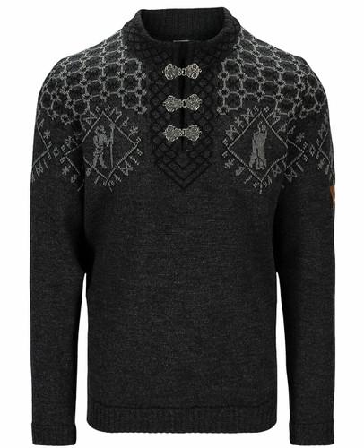 Dale of Norway Hodur Men's Sweater, Dark Charcoal/Smoke/Black, 94711E