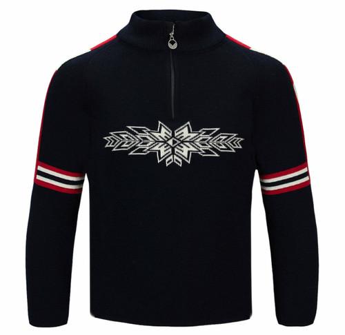 Dale of Norway OL Spirit Kids Sweater, Navy/Offwhite/Raspberry, 94781C