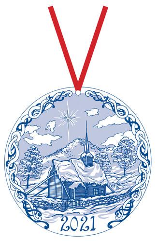 2021 Stav Church Ornament - Rodven, Romsdal, Norway