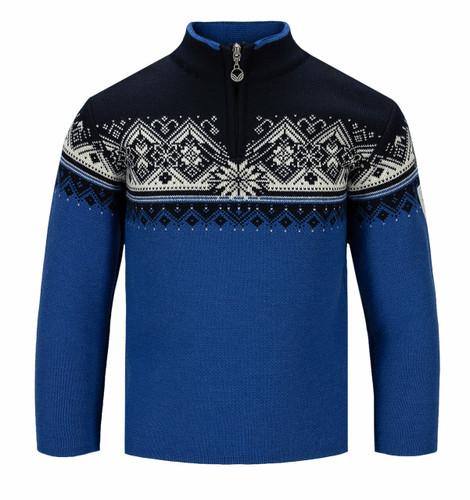 Dale of Norway Moritz Sweater, Childrens - Ultramarine/Navy/Off White, 9150-H