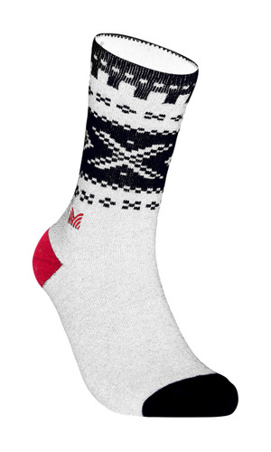 Dale of Norway Cortina Sock, Off White/Navy/Raspberry, 50101A