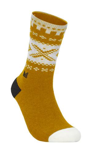 Dale of Norway Cortina Sock, Mustard/Off White/Dark Charcoal, 50101O