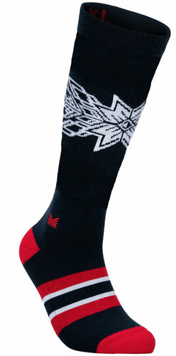 Dale of Norway OL Spirit Sock High, Navy/Raspberry/Off White, 50131C