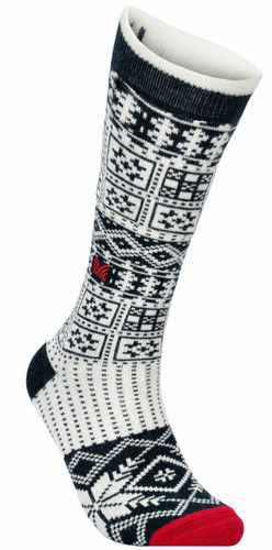 Dale of Norway OL History Sock High, Navy/Off White/Raspberry, 50151C