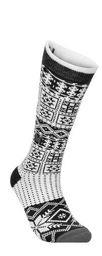 Dale of Norway OL History Sock High, Dark Charcoal/ Off White/ Smoke, 50151E
