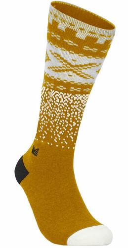 Dale of Norway Cortina Sock High, Mustard/Off White/Dark Charcoal, 50111O
