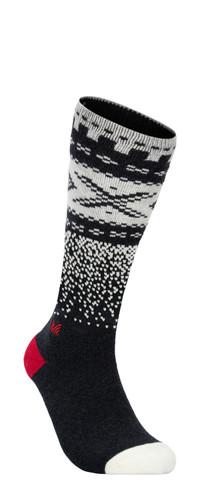 Dale of Norway Cortina Sock High, Dark Charcoal/Off White/Raspberry, 50111E