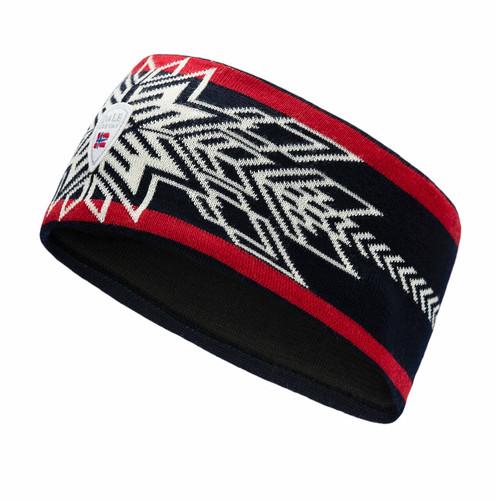 Dale of Norway OL Spirit Headband, Navy/Off White/Raspberry, 26771C