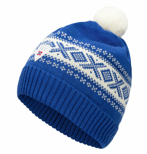 Dale of Norway Cortina Kids Hat 4-8, Ultramarine/Off White, 43341-H