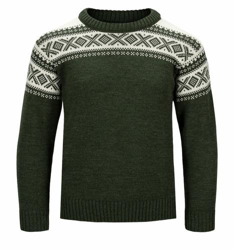 Dale of Norway Cortina Sweater, Childrens - Dark Green/Off White, 92991-G