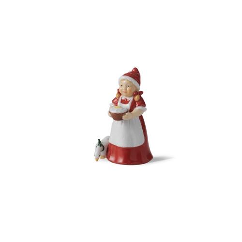 "Royal Copenhagen 2021 Annual Santa's Wife Figurine 4"""