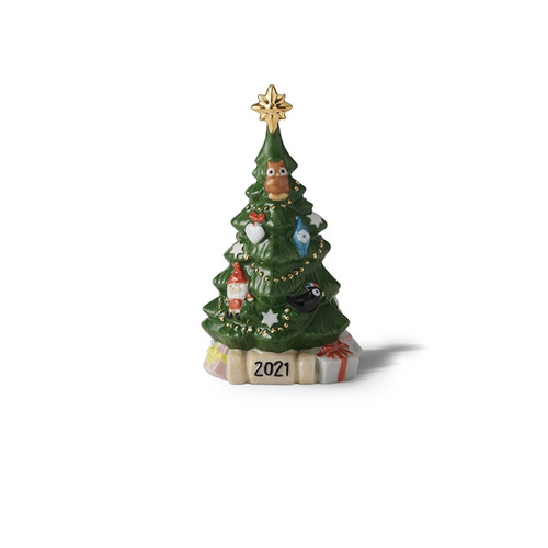 "Royal Copenhagen 2021 Annual Christmas Tree Figurine 7"""