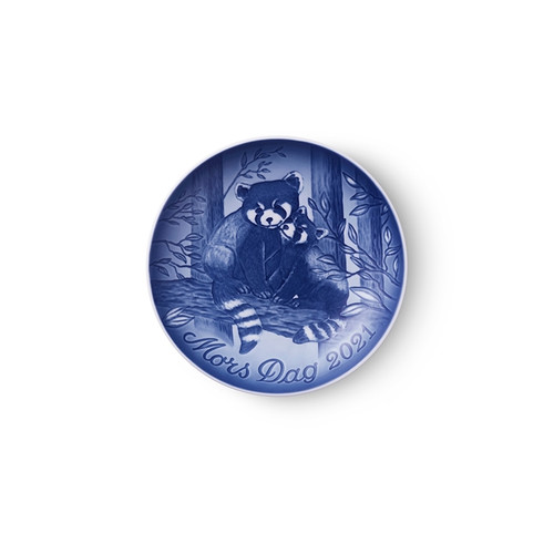 """Bing and Grondahl 2021 Mother's Day Plate- Red Panda with Cub 5.75"""""""