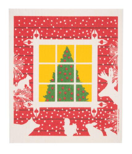 Swedish Christmas Dishcloth - Christmas Window