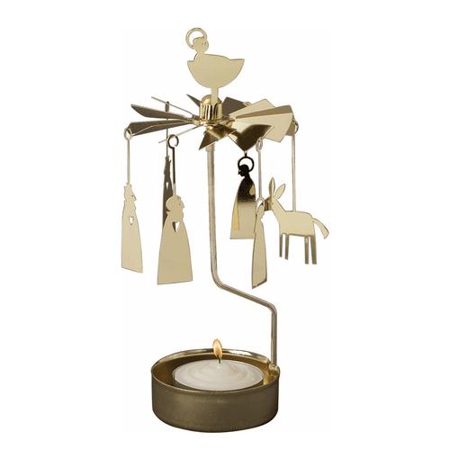 Swedish Votive Spinner - Nativity, Gold