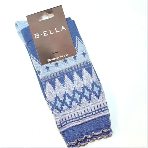 B.ELLA Everleigh Sparkle Fairisle Socks, Ladies' One Size - Aqua