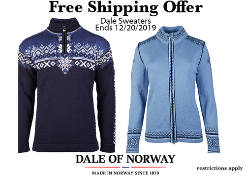 Free Dale of Norway Shipping Offer