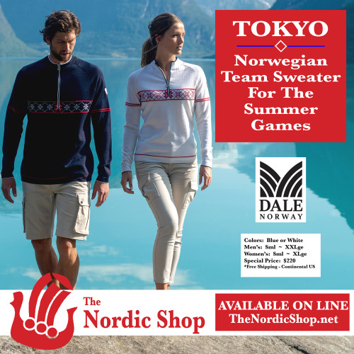 JUST RELEASED . . .  the TOKYO Sweater, by Dale of Norway for the Norwegian Olympic Team