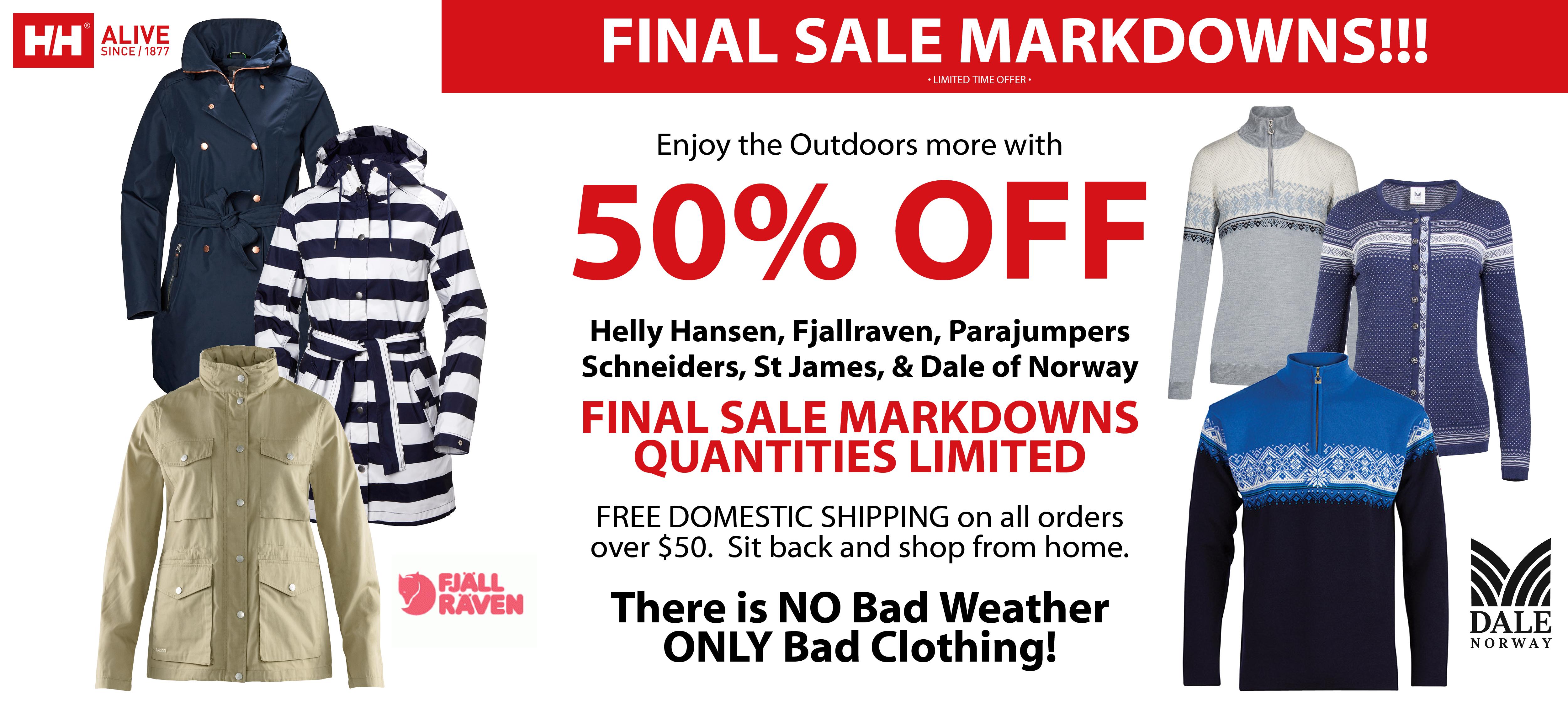 Helly Hansen Sale, Parajumpers Sale, Saint James Sale, Oleana Sale, Fjallraven Sale, Dale of Norway Sale, Dale Sale, Schneiders Sale