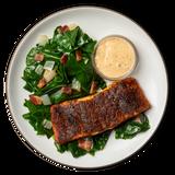 Cajun Salmon with Braised Greens & Bacon
