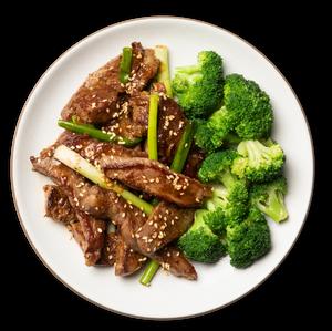 Mongolian Beef with Sesame Broccoli