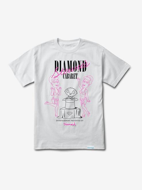 Diamond Supply Co X Family Guy Cabaret Tee - White