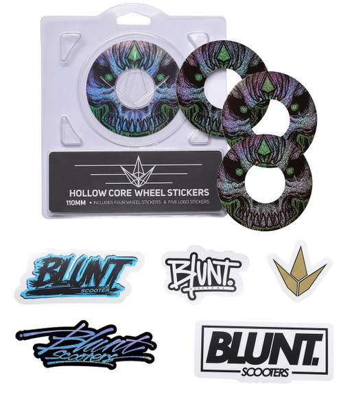 Blunt Envy 110mm Hollowcore Wheel Stickers - Skull