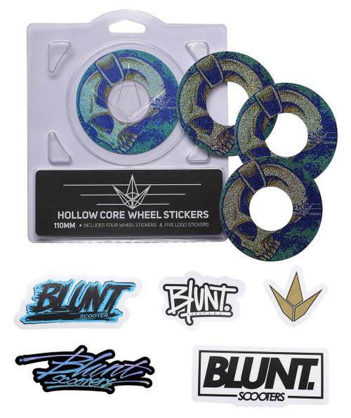 Blunt Envy 110mm Hollowcore Wheel Stickers - Skullphones