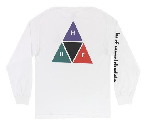 HUF - Prism TT L/S T-Shirt - White